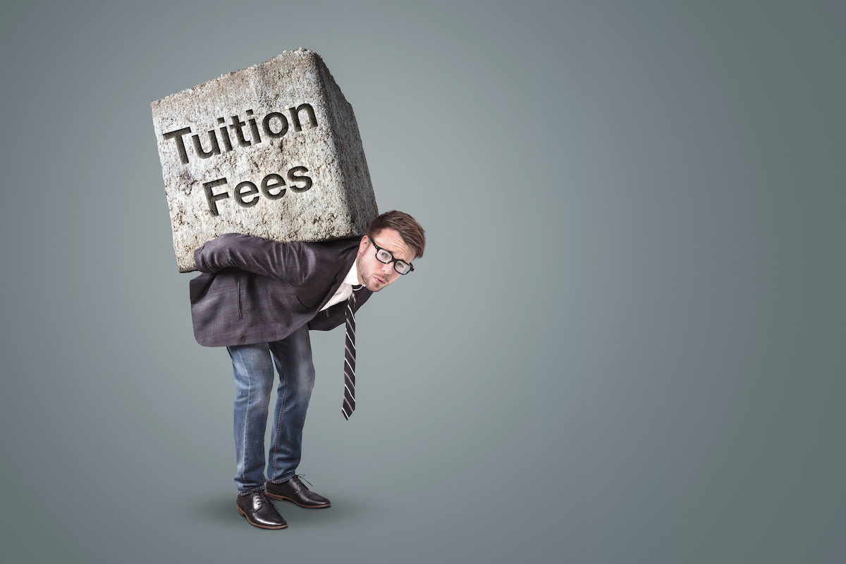 Heavy burden of tuition fees